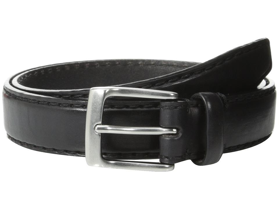John Varvatos - 30mm Bombay Edge Stitch Brush Off Veg Buckle (Black) Men's Belts