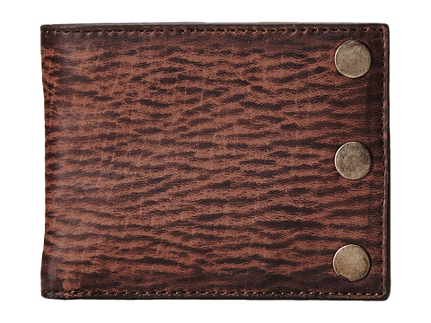 John Varvatos - Slim Billfold (Chocolate) Bill-fold Wallet