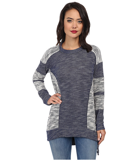 BCBGeneration - Reverse Panel Pullover (Navy Combo) Women