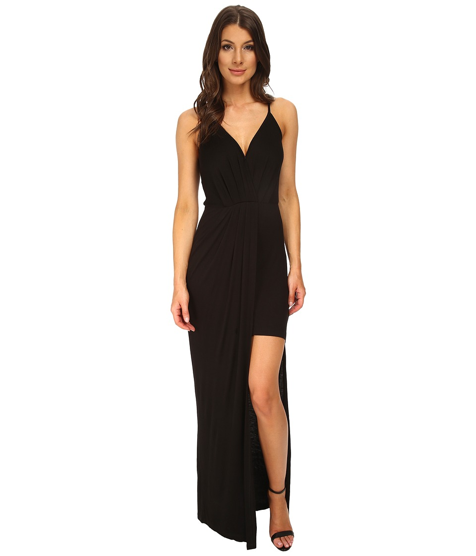 BCBGeneration - Cross Front Maxi (Black) Women's Dress