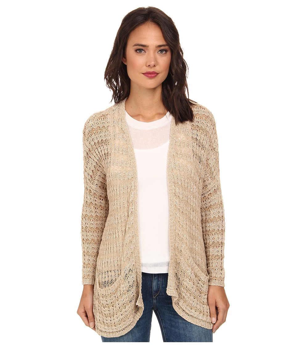 Free People - Last Night Stripe Cardigan (Tan) Women's Sweater