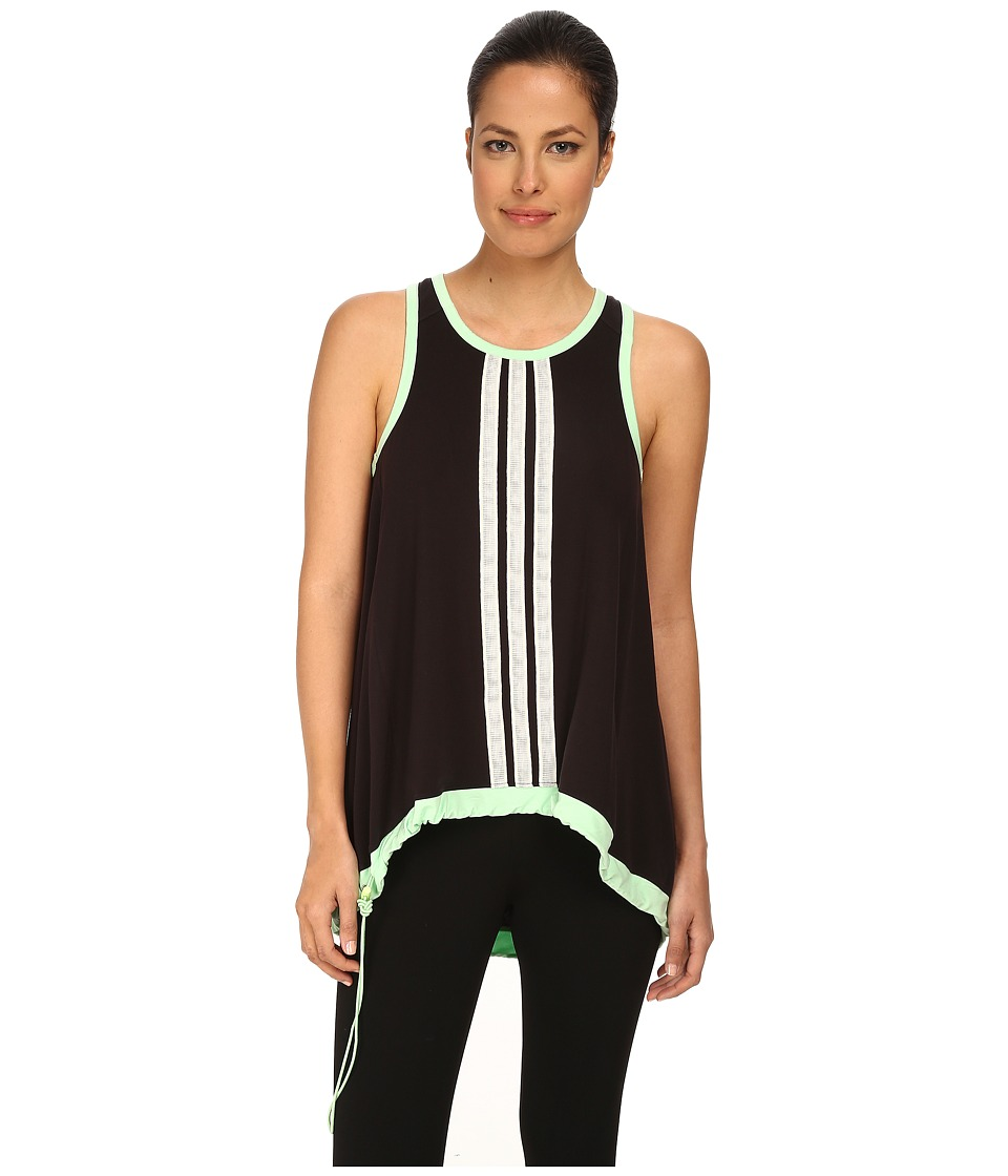 adidas Y-3 by Yohji Yamamoto - Summer 3S Tank Top (Black/Light Flash Green) Women's Sleeveless