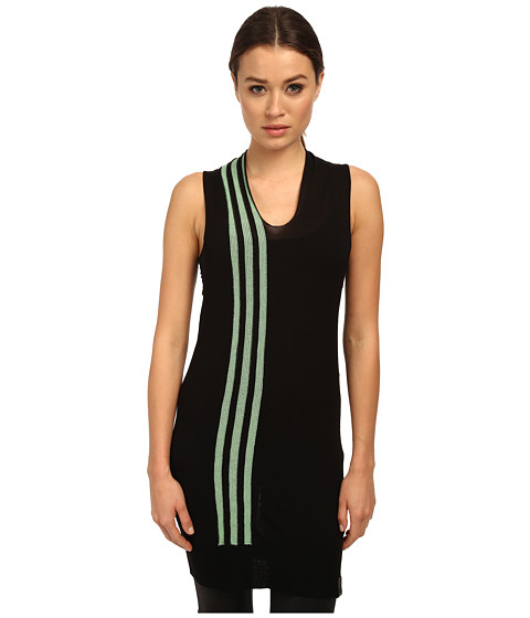 adidas Y-3 by Yohji Yamamoto - Knit Tank Top (Black/Light Flash Green) Women's Sleeveless