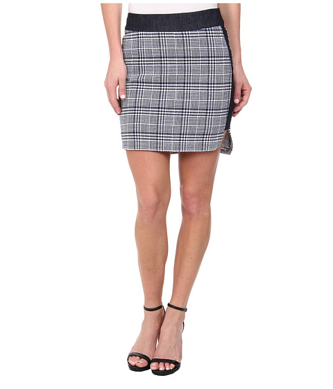 BCBGeneration - High-Low Hem Sporty Skirt (Navy Combo) Women