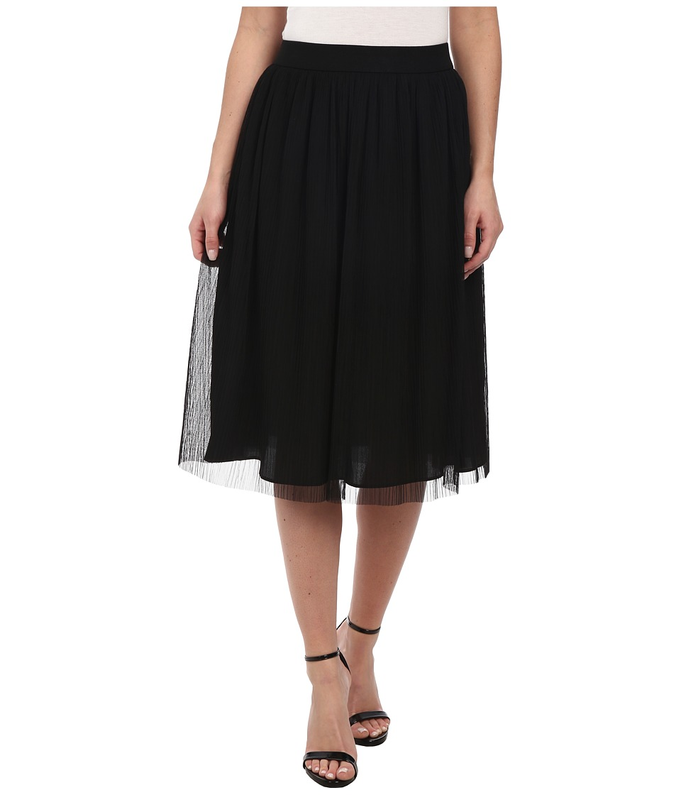 BCBGeneration - Midi Skirt with Elastic (Black) Women's Skirt