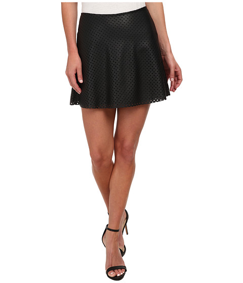 BCBGeneration - Fit and Flare Mini Skirt (Black) Women