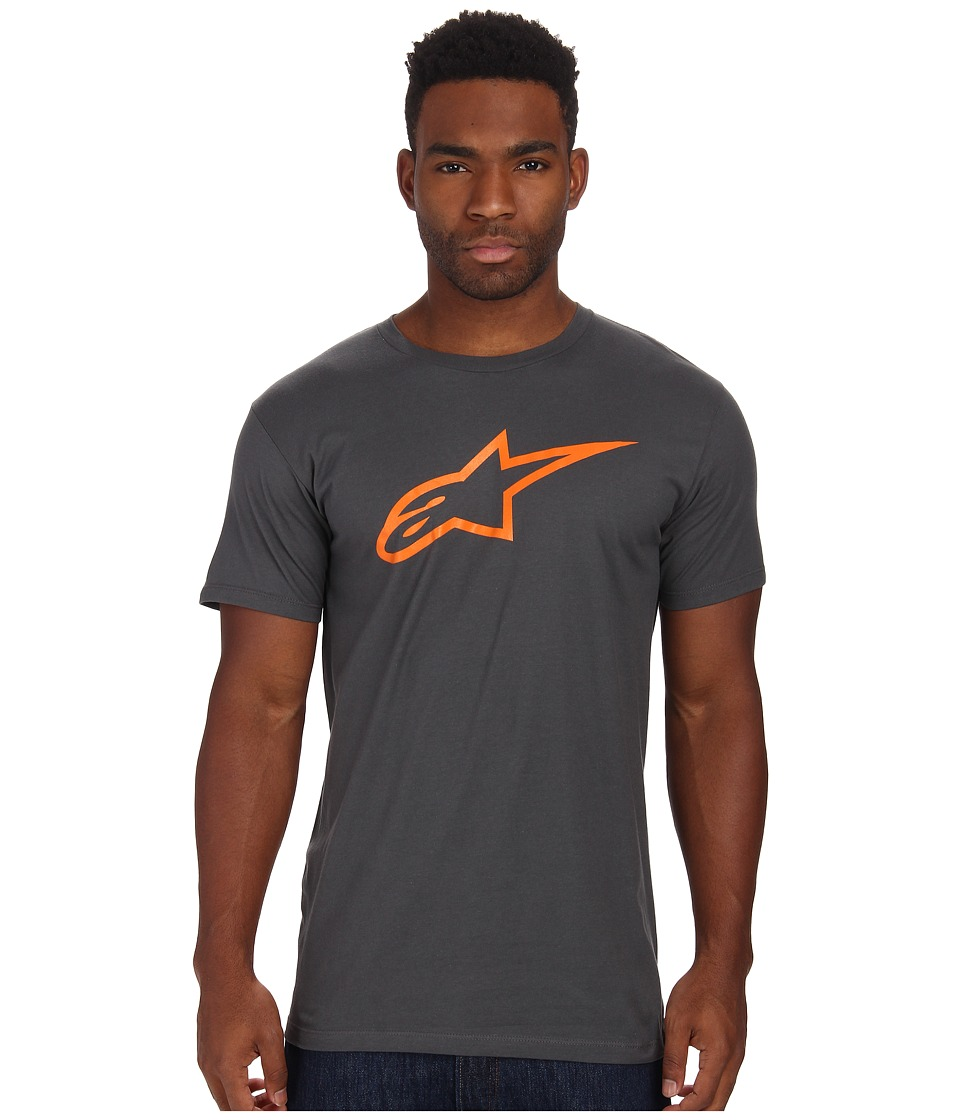 Image of Alpinestars - Ageless Tee (Charcoal/Orange) Men's T Shirt