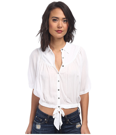 Free People - Solid Sheilas Rayon Drape and Tie Top (White) Women