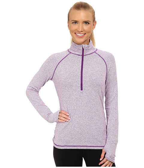 Lucy - Dashing Stripes Half Zip (Purple Orchid Stripe) Women
