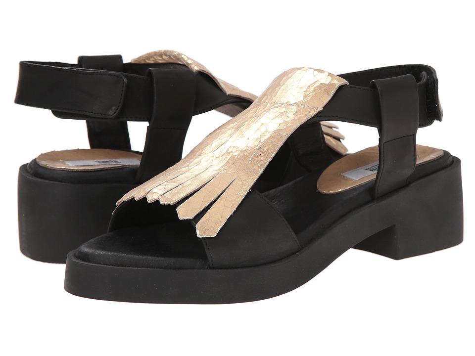 Miista - Bridgette (Black/White Gold) Women's Sandals
