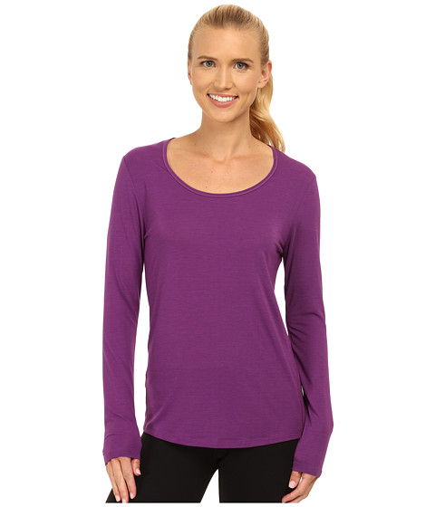 Lucy - L/S Workout Tee (Purple Orchid) Women's Workout