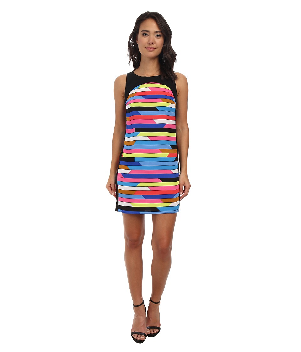 Laundry by Shelli Segal - Roy and Andy Crepe Shift Dress (Bright Blue Beret Multi) Women's Dress