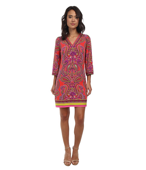 Laundry by Shelli Segal - Fancy Pantz Paisley Matte Jersey Dress (Hibiscus Multi) Women's Dress