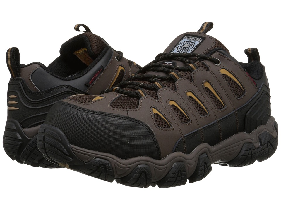 SKECHERS Work - Blais (Dark Brown) Men's Work Boots