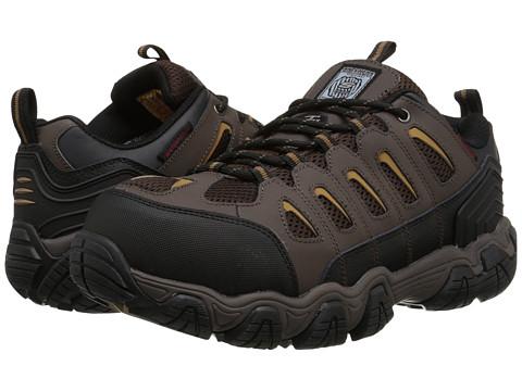 SKECHERS Work - Blais (Dark Brown) Men's Work Boots