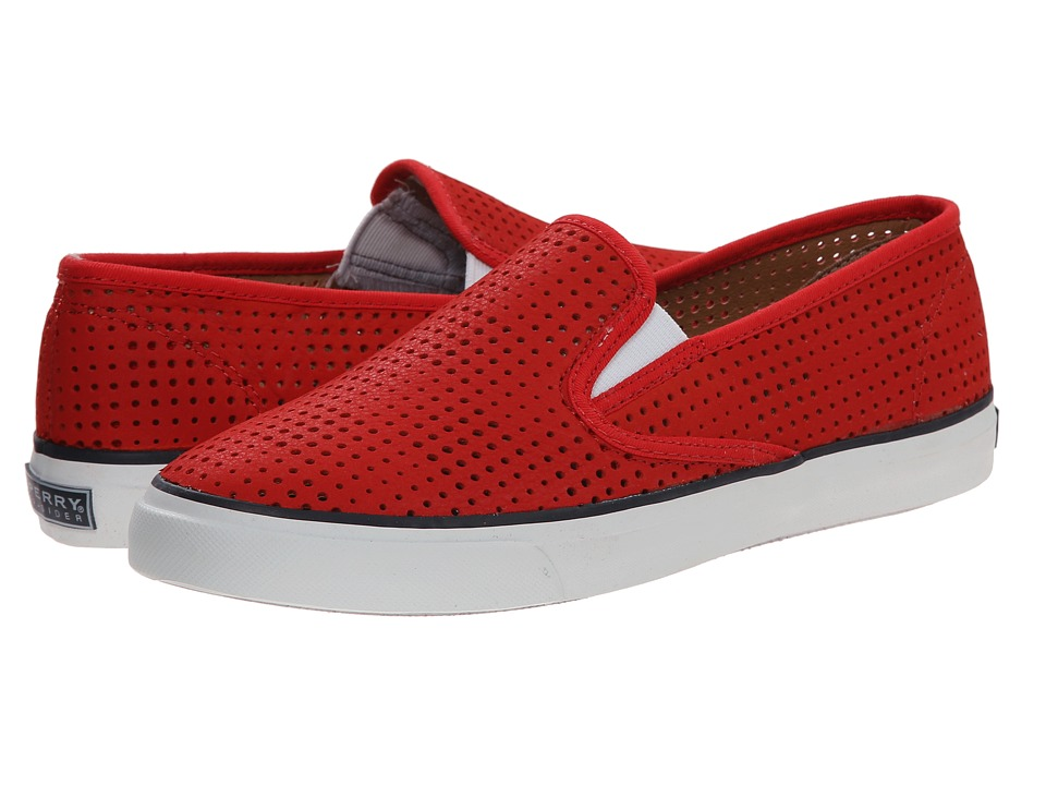 Sperry Top-Sider - Seaside Perfed Leather (Red) Women