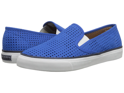 Sperry Top-Sider - Seaside Perfed Leather (Blue) Women