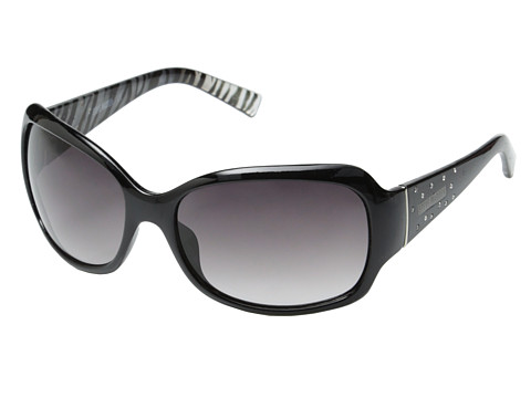 Steve Madden - S5625 (Black/Animal) Fashion Sunglasses