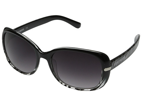 Steve Madden - S5623 (Black/Animal) Fashion Sunglasses