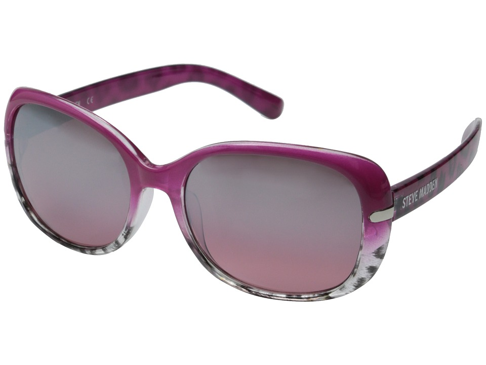 Steve Madden - S5623 (Pink/Animal) Fashion Sunglasses