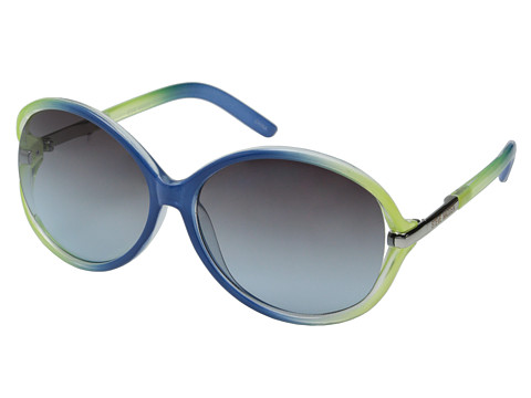Steve Madden - S5627 (Navy/Lime) Fashion Sunglasses