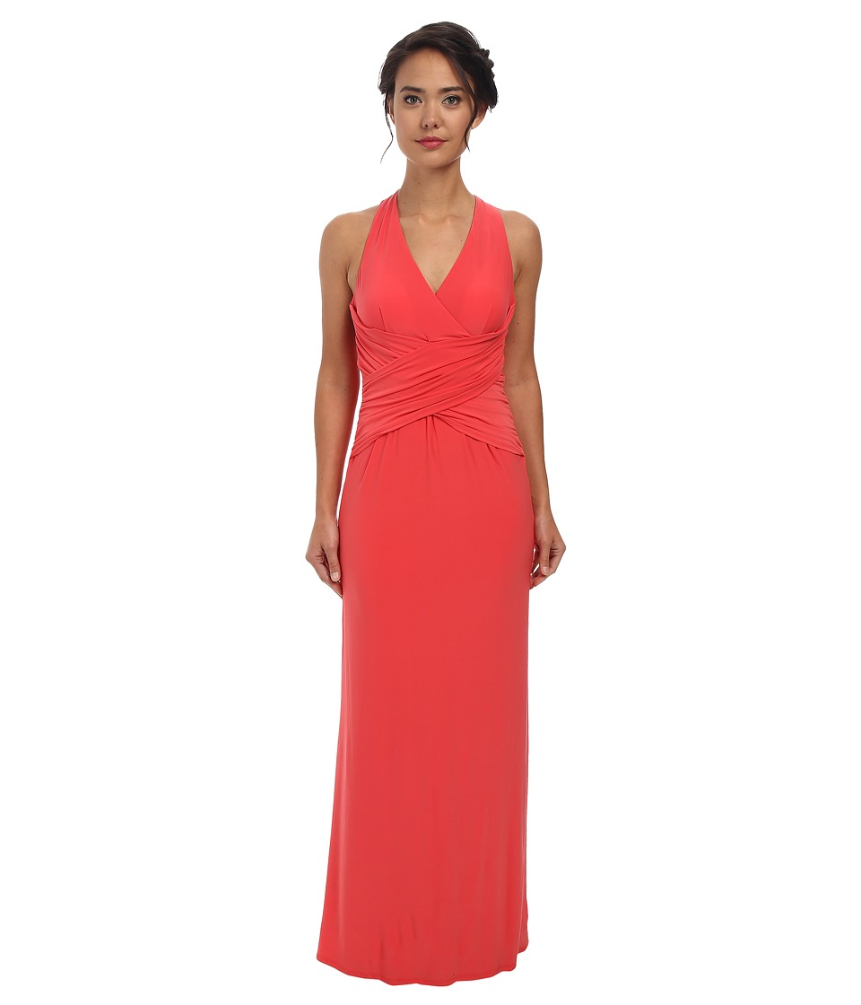Laundry by Shelli Segal Crisscross Front Back Jeresey Gown (Hibiscus) Women