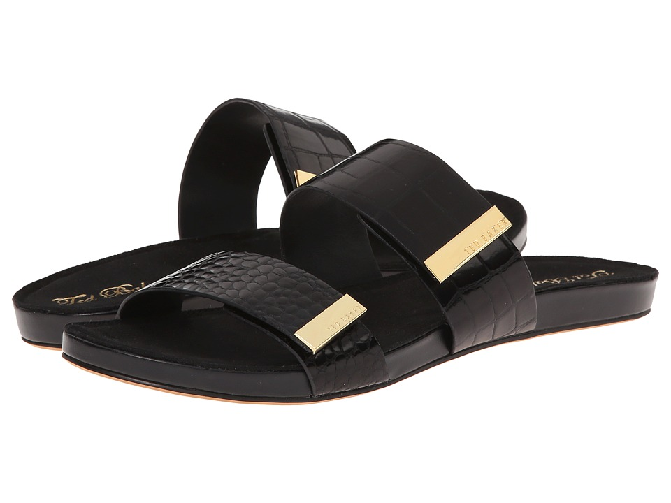 Ted Baker - Reisling (Black Exotic) Women's Slide Shoes