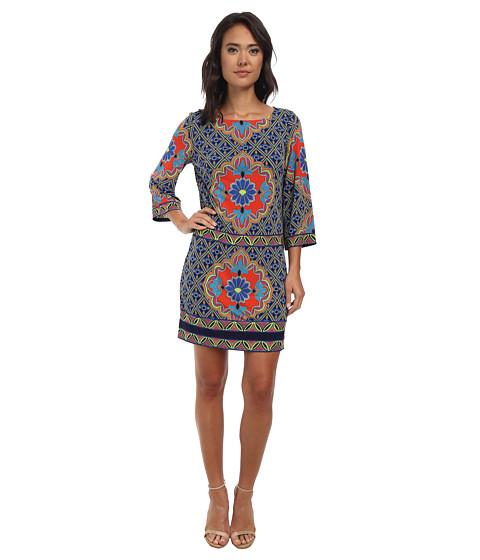 Laundry by Shelli Segal - Diamond Inlay Border Matte Jersey (Island Multi) Women's Dress