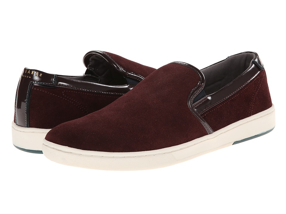 Ted Baker - Chaise 1 (Dark Red Suede) Men's Shoes