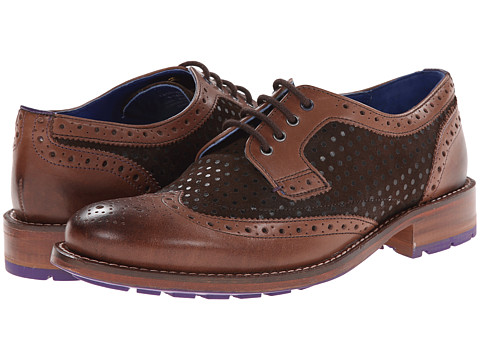Ted Baker - Cassiuss 3 (Brown Leather) Men's Lace Up Wing Tip Shoes