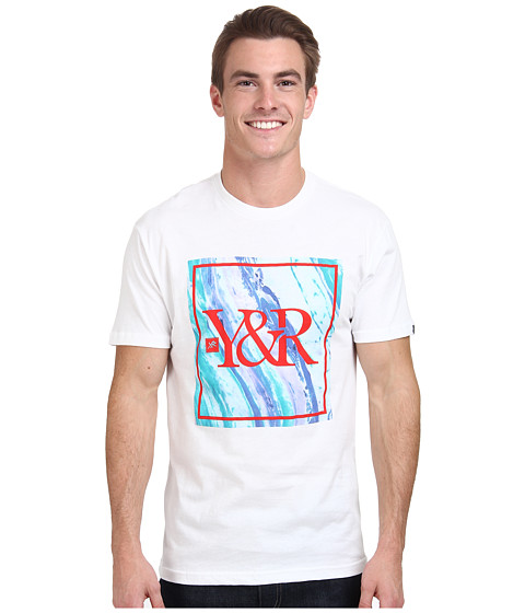Young & Reckless - Square Tidal Wave Logo Tee (White) Men