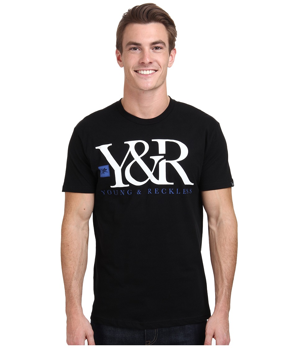 Young & Reckless - Core Logo Tee (Black) Men's T Shirt