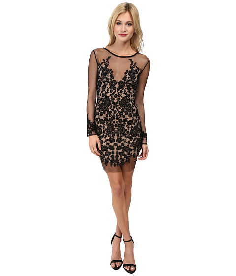 For Love and Lemons - Luau Mini Dress (Black/Nude) Women