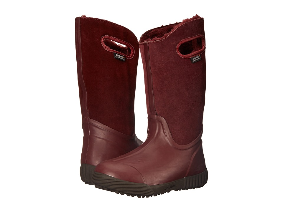 Bogs - Prairie Tall (Ox Blood) Women's Rain Boots