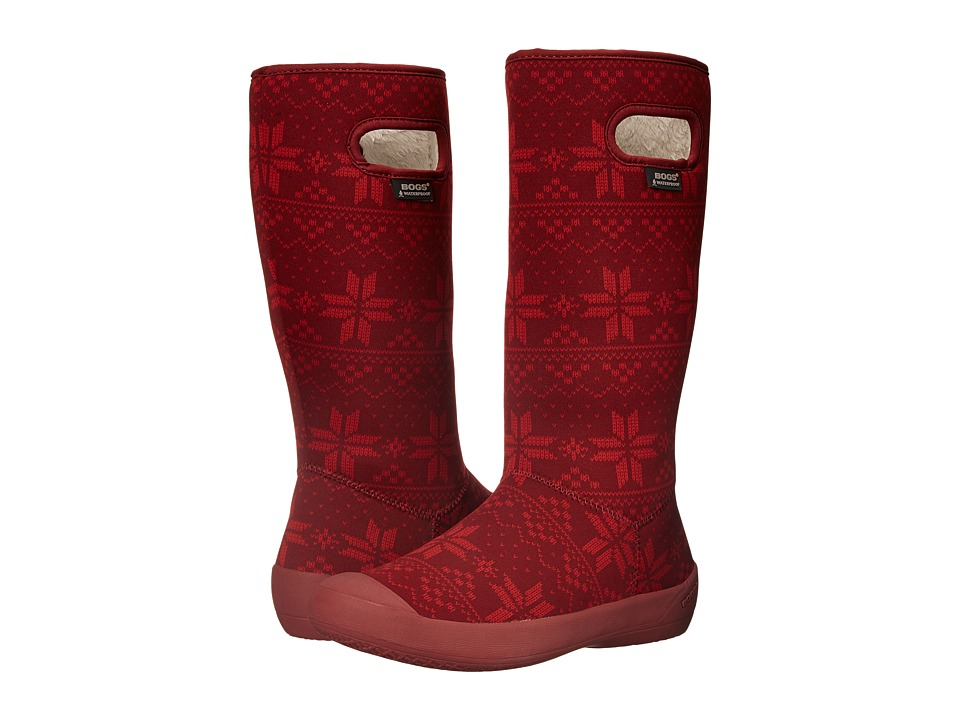Bogs - Summit Sweater (Wine) Women's Rain Boots