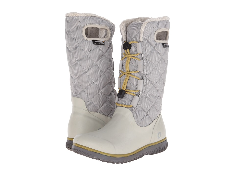 Bogs - Juno Lace Tall (Light Gray) Women's Cold Weather Boots