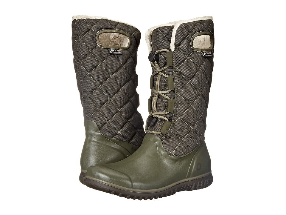 Bogs - Juno Lace Tall (Dark Green) Women's Cold Weather Boots