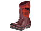 Bogs Plimsoll Plaid Mid (Ox Blood)