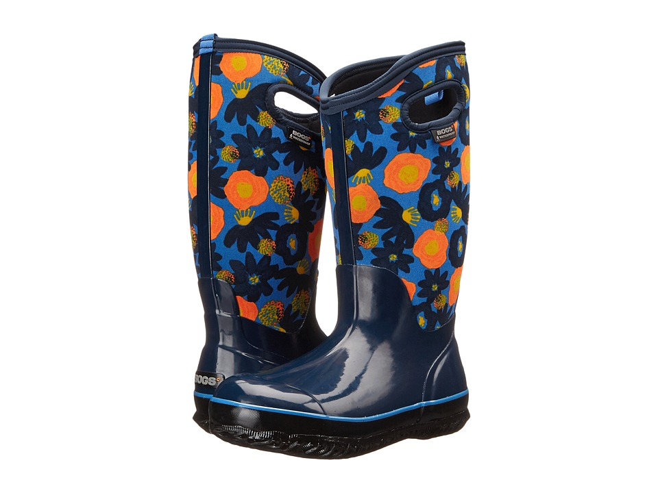 Bogs Classic Watercolor Tall (Dark Blue Multi) Women