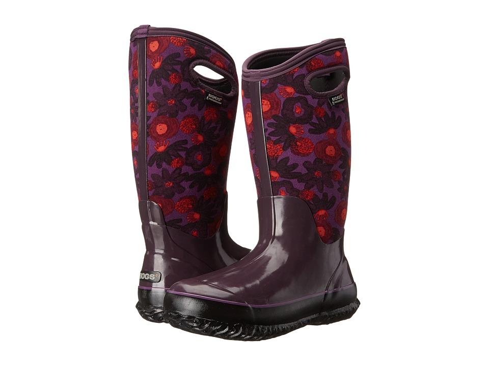 Bogs - Classic Watercolor Tall (Plum Multi) Women's Rain Boots