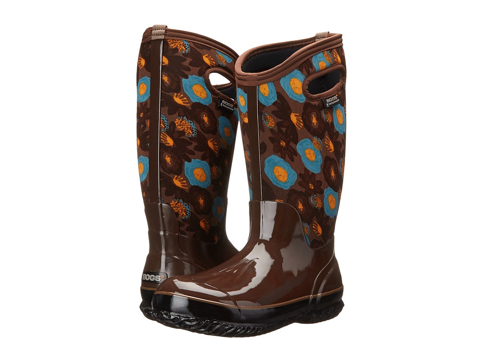 Bogs Classic Watercolor Tall (Brown Multi) Women