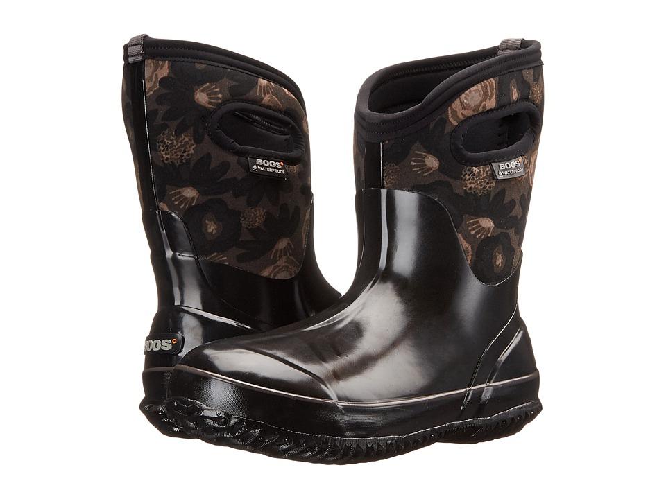 Bogs - Classic Watercolor Mid (Black Multi) Women's Rain Boots