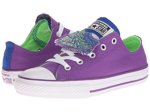 Converse Kids - Chuck Taylor All Star Color Sprial Double Tongue Ox (Little Kid/Big Kid) (Allium Purple/Blue/Green Gecko) Girls Shoes