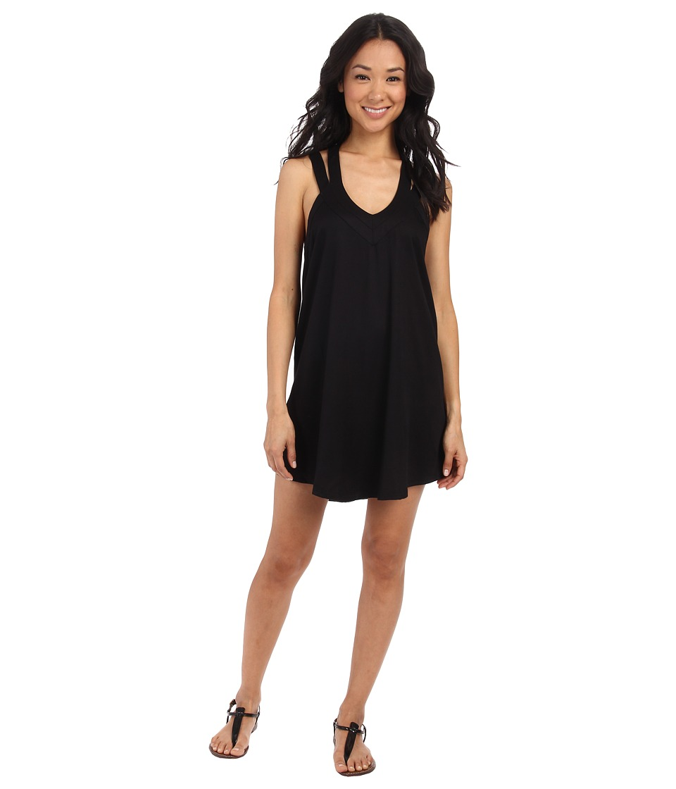 RVCA - Tunnel Vision Sleeveless Dress (Black) Women's Dress