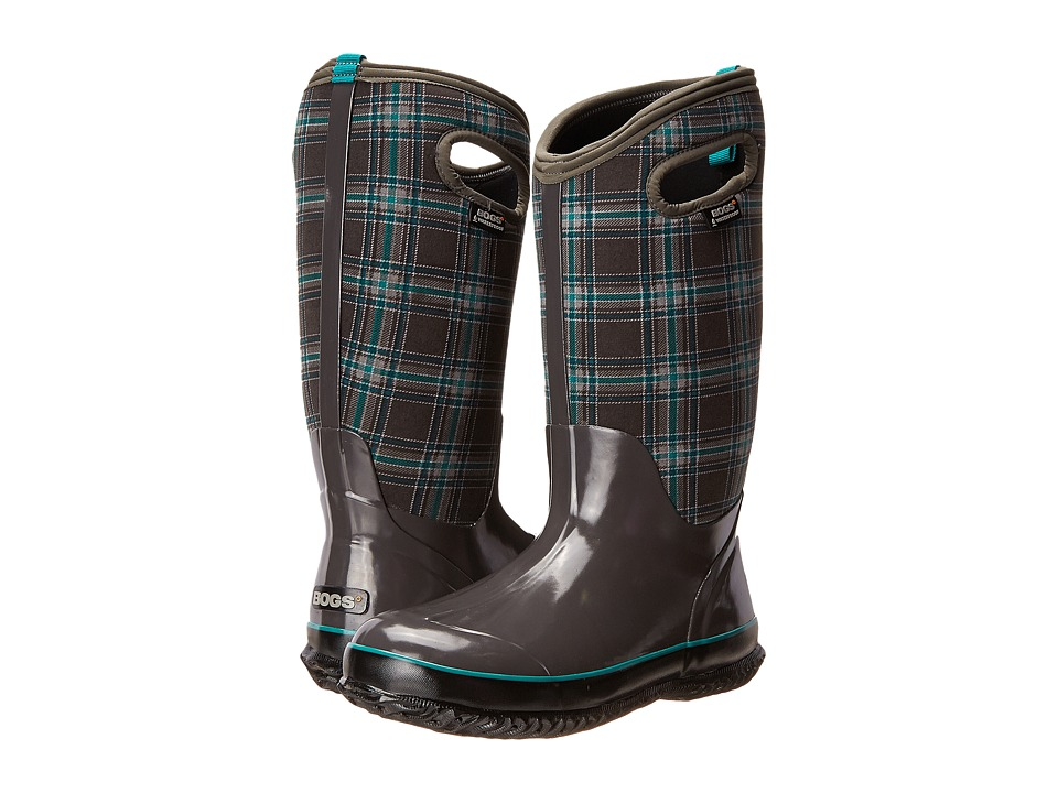 Bogs Classic Winter Plaid Tall (Dark Gray Multi) Women