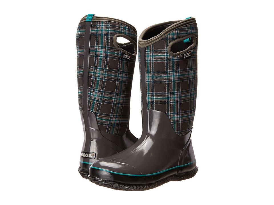 Bogs Classic Winter Plaid Tall (Dark Gray Multi) Women