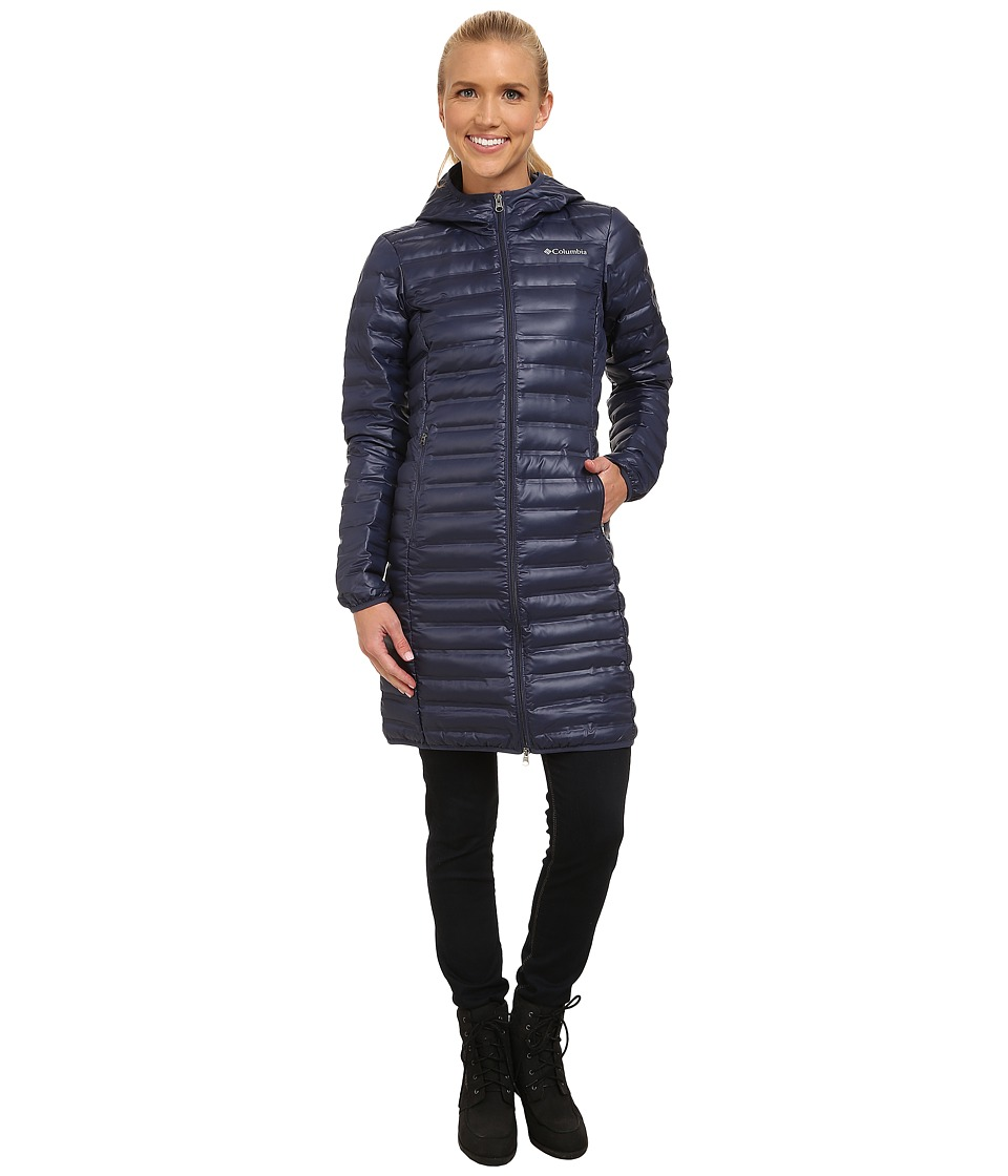 Columbia - Flash Forward Long Down Jacket (Nocturnal) Women's Coat