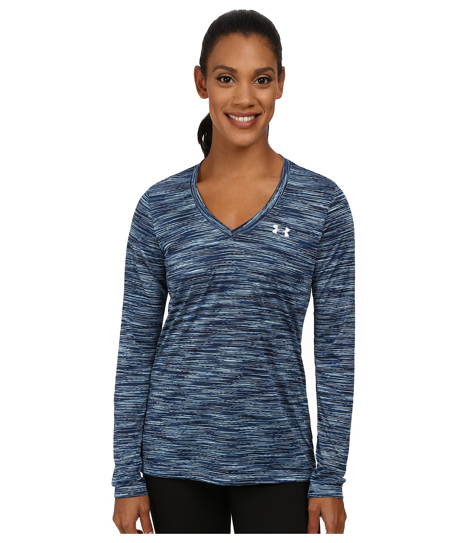 Under Armour - UA Techtm Space Dye Long Sleeve (Freshwater/Metallic Silver) Women's Long Sleeve Pullover
