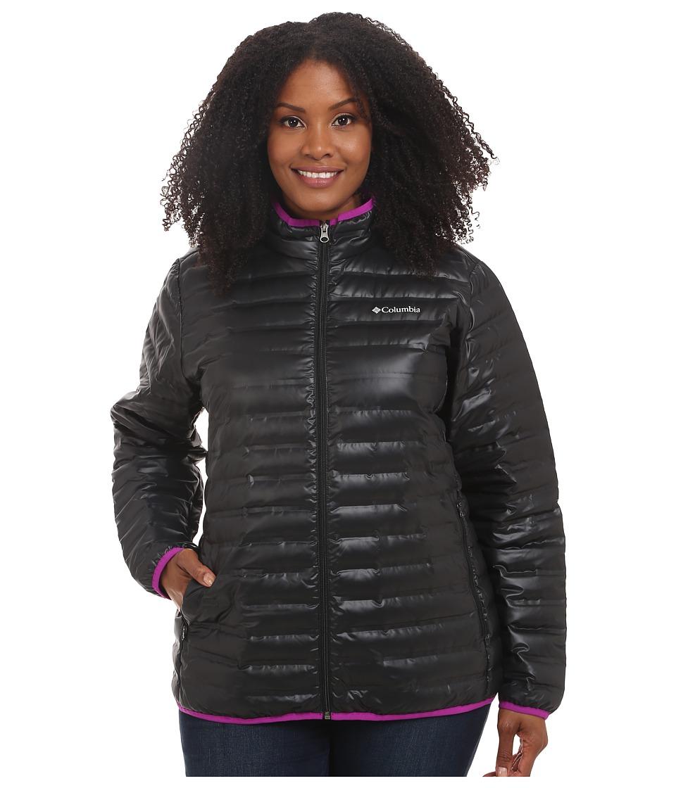 Columbia - Plus Size Flash Forward Down Jacket (Black/Bright Plum) Women's Coat