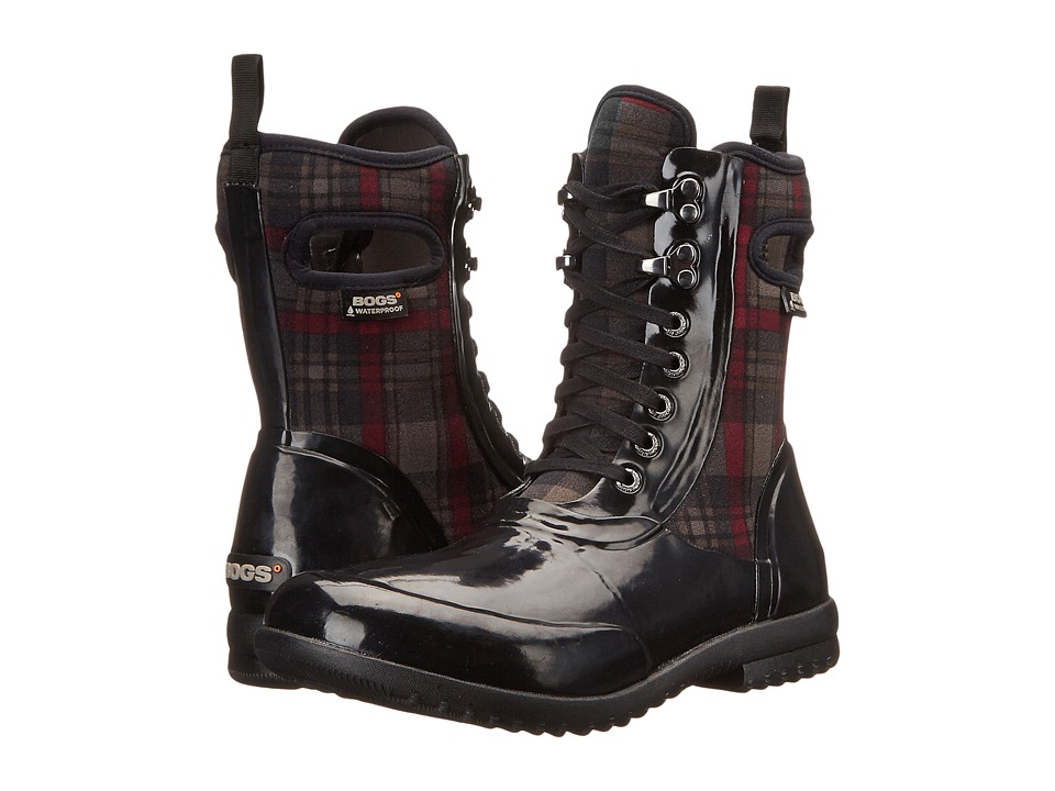 Bogs Sidney Lace Plaid (Black Multi) Women